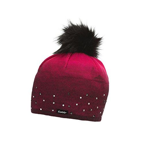 Eisbär Damen Dip Dye Lux Crystal Mütze, pittipink Bedruckt mit schwarz, One Size