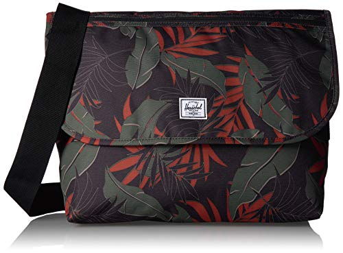 Herschel Grade Messenger Bag, Dark Olive Palm, Classic