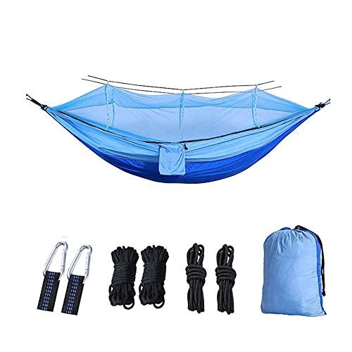 ZJSXIA 1-2 Persona Portable Outdoor Camping Amaca con Mosquito Net Paracadute Tessuto Appeso Letto Caccia Ambito Addormentato-a Amaca Giardino (Color : D)