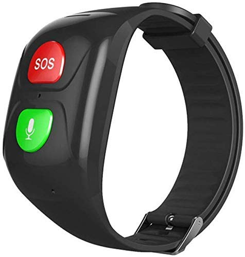 SOS Armband,GPS-Tracker Für Senioren Con SOS Notruf, GPS Ortung, Telefon, Hilfe Im Notfall (Black)
