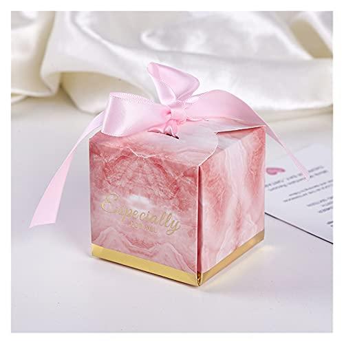 MAUAP Tema Boda Favors Favores Caja de Caramelo Caja de Regalo de Recuerdos con Cinta Caja de Papel de Chocolate Hermosa Caja de Regalo para Boda (Color : C, Gift Box Size : 100pcs)