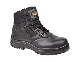 Cheap safety boots with side zip and protective toe