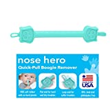 Nose Hero Soft Baby Nose Cleaner | 100% Flexible Rubber Tips for Infants Ears Noses and Nails | Made in USA Nasal Booger and Snot Puller Tweezers (Teal)