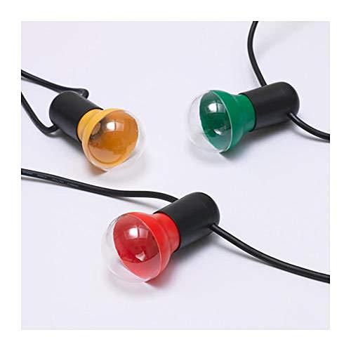IKEA Solvinden LED Lichterkette 12 Glühbirnen - für draußen - bunt rot gelb grün - Kunststoff
