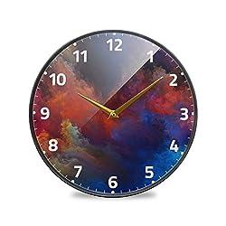 Wall Clock Silent & Non Ticking 微信图片 Abstract Design Modern Quartz Wall Clock Office Decor Clocks Metal Frame Glass Cover