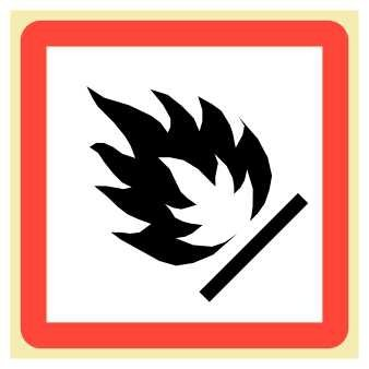 Flame - Extremely Flammable Hazard-Safety Labels (GHS Pictogram Symbol), 1