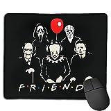 Friends of Horror Funny Halloween Scary Movies Movies Michael Myers Jason Alfombrilla de ratón Antideslizante para Juegos