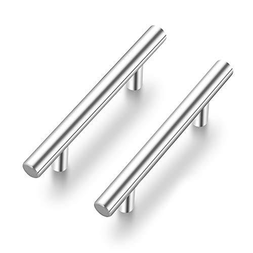 "Ravinte 30 Pack 5 inch Kitchen Cabinet Handles Cabinet Pulls Brushed Nickel Stainless Steel Kitchen Drawer Pulls Cupboard Handles 3"" Hole Center"