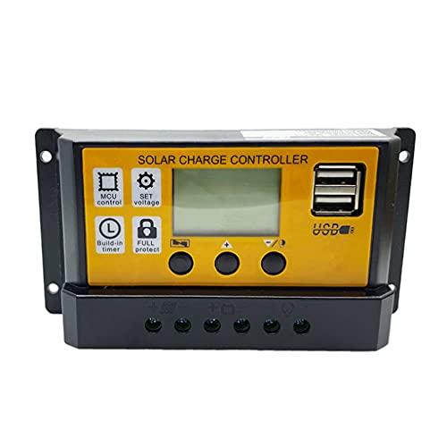 FLAMEER Controlador de carga Solar para batería de litio, regulador inteligente de carga de Panel Solar, puerto USB Dual 5V 2A - 50A