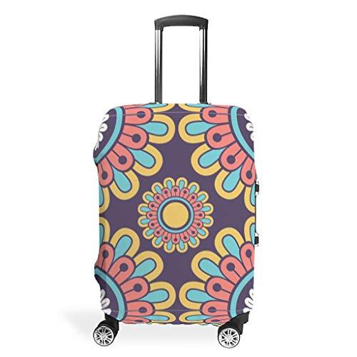 EUNNT - Funda para equipaje de viaje, diseño clásico, simétrico, lavable, diseño de maleta