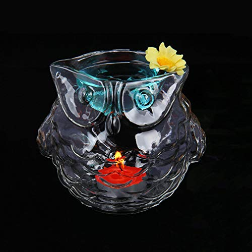 Glass Aroma Essential Oil Burners Owl Aromatherapy Candle Holder Oil Warmer Candlestick Home Wedding Yoga Spa Decoration Birthday Gift