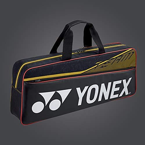 Yonex 42031W Team-Turnier-Tasche für Badminton/Tennisschläger, Schwarz / Gelb