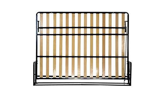 Wallbedking Classic Doppel- WANDBETT (Quer) 140x200 (Klappbett, Schrankbett, Gästebett, Funktionsbett) Horizontal 140cm x 200cm
