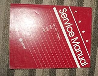 1984 Dodge Ram Van B150 B250 B350 Service Repair Manual