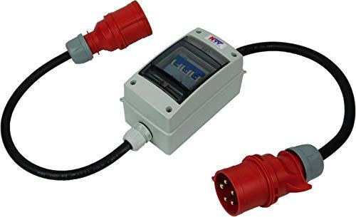 NW Powersolutions NW10060 32A Stecker auf 16A 400V Kupplung Starkstrom IP44 mit Leitungsschutzschalter 3B16A H07RN-F 5G2,5/5G4 Adapter