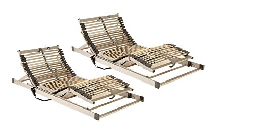 Komfort-Set 180 x 200 cm bestehend aus: 2 x Motorlattenrost Techno-Flex elektrisch verstellbar in 90 x 200 cm – SOFORT LIEFERBAR