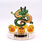 GYCOZ Decoración hogareña 15cm Anime Dragon Ball Z Figuras de acción Shenron Dragonball Z Figuras Conjunto Esferas del Dragón 7PCS 3.5 cm Bolas Estantería Figuras (Color : A with in Box)