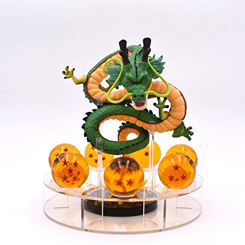 GYCOZ Decoración hogareña 15cm Anime Dragon Ball Z Figuras de acción Shenron Dragonball Z Figuras Conjunto Esferas del Dragón 7PCS 3.5 cm Bolas Estantería Figuras (Color : A with in Box)
