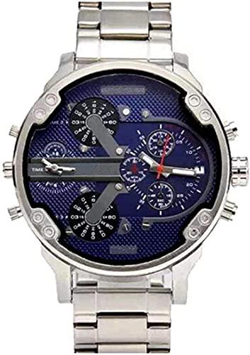 Qiyifang Hombre Reloj con Personalidad Sphere Tendencia Reloj Reloj de Cuarzo con Banda portátil de Acero Inoxidable-F