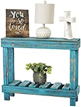 Barnwood Entry Table by Del Hutson Designs (Turquoise)