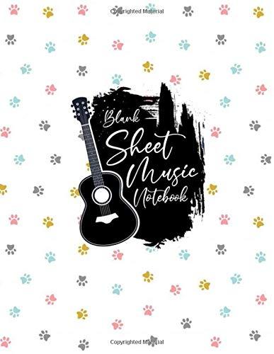 Blank Sheet Music Notebook: Blank Sheet Music Notebook, cute colorful kitten pow design style, Funny cute colorful kitten pow Sheet Music Notebook, ... Notebook , cute colorful kitten pow gifts