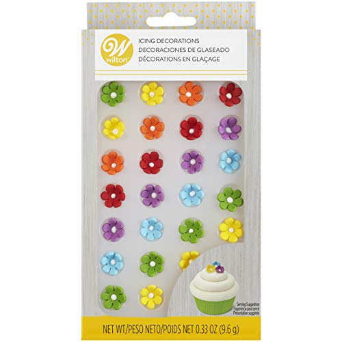 Mini Daisy Multi-Color Icing Decorations