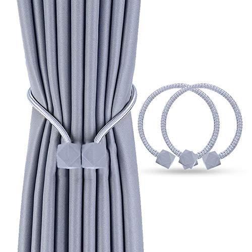 Heatigo Magnetische Vorhang Raffhalter (2 Stück),Stilvoller Vorhanghalter Mit Starken Magnetischen Krawattenklammern, Geeignet für Heim- und Bürodekoration (huise)