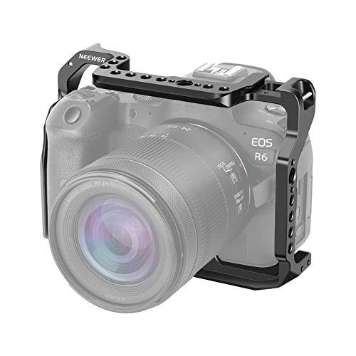 """Neewer Gabbia Fotografica per Canon EOS R5 R6, Rinnovata in Lega di Alluminio, per Vlogging Registrazioni Video Produzioni Film Reflex Digitali, Video Rig Stabilizzatore con Filettature 1 4"""" 3 8"""""""