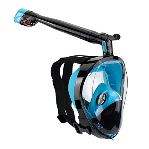 Ctegood máscara de Buceo máscara Snorkel Facial Completa 180º panorámica Anti-vaho Anti-Fuga easybreath Adulto