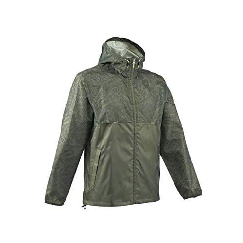 Inter Fast - Poncho impermeable impermeable para hombre al aire libre, chaqueta de senderismo para bicicleta de excursión, varios tamaños opcionales (gris verde) (color: gris y verde), talla XS)