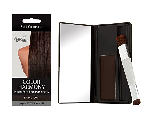 Color Harmony Retouch-Ansatzpuder: Verbirgt graue & dunkle Haare am Ansatz, wasserbeständiger Haarpuder; Nicht klebriger, einfach anzuwendender & sauberer Concealer zur Haartönung (Dunkelbraun)