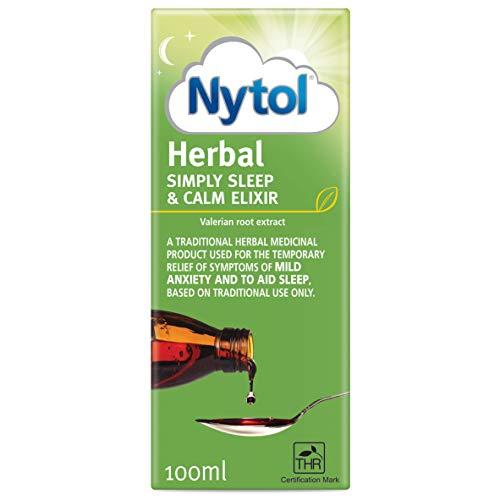 Nytol Simply Sleep & Calm Elixir 100ml - Used to Calm Symptoms of Mild Anxiety and Aid Sleep