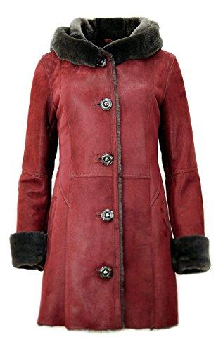 DX-Exclusive wear Damen-Schaffellmantel, Lammfellmantel KPKK-0004 (38)