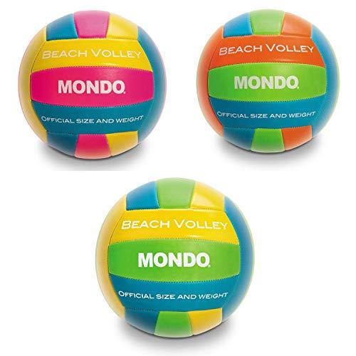 Mondo Toys - Pallone da Beach Volley BEACH - size 5 pallavolo - 270 g - Colore giallo / arancione / blu / fucsia - 13037