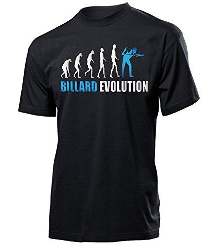Billiard Evolution Geburtstag Geschenke Herren Männer t Shirt Tshirt t-Shirt zubehoer Billard Bekleidung Oberteil Hemd Kleidung Outfit Spruch Fun witzig Artikel