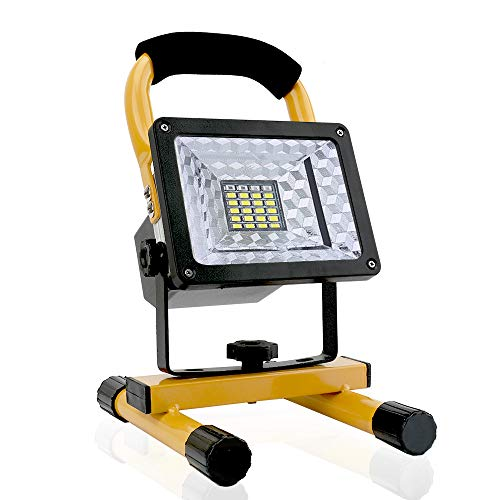 [15W 24LED] Spotlights Work Lights Outdoor Camping Lights, Built-in Rechargeable Lithium Batteries...