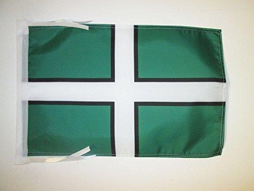 AZ FLAG Flagge GRAFSCHAFT DEVOB 45x30cm mit Kordel - DEVOB Fahne 30 x 45 cm - flaggen Top Qualität