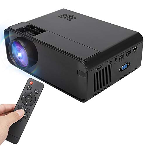 Garsent Led-projector, draagbare Full HD 1080P-led-videoprojectoren, ondersteunt USB, HDMI, TF, VGA en AV, 3D-mini-thuisbioscoop-projector voor tv, fire, stick, PS4, Xbox, laptop, pc enz, EU.