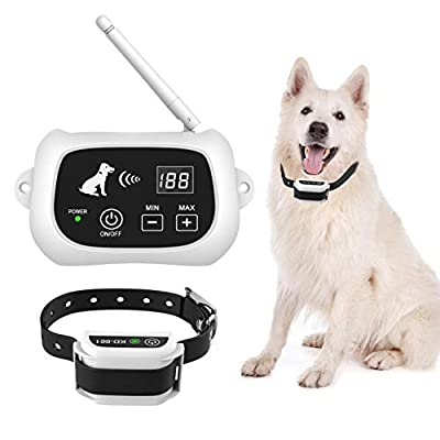 Latest Wireless Dog Fence System, Pet Containment System, Pets Dog Containment System Boundary Container with IP65 Waterproof Dog Training Collar Receiver, Adjustable Range, Harmless for Pet Dogs