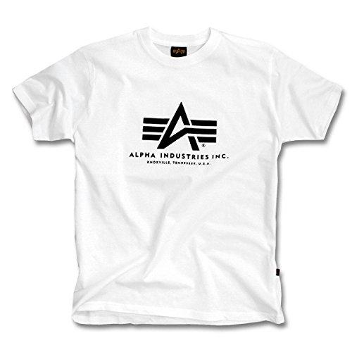 Preisvergleich Produktbild Alpha Industries Basic Logo T-Shirt Logo Shirt,  Größe:XXL;Farbe:White