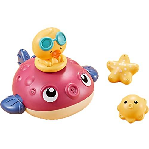 AioTio Baby Badespielzeug Wasserspielzeug Badewannenspielzeug Baby Spielzeug,Geschenke passend für Babys. (Fuchsie)