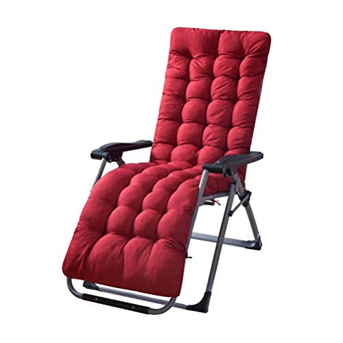 Gneric Sun Loungers Recliners Foldable With Cushions, Overstuffed Recliner Water Resistant & Lightweight, Perfect For Indoor Outdoor Recliner, Red, 48x155cm
