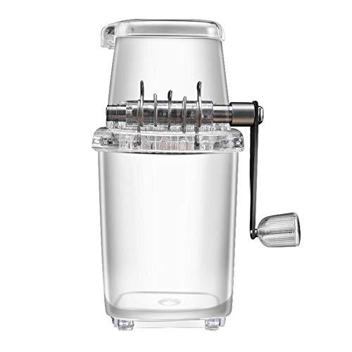 Eiscrusher Manuell Ice Crusher Transparent Eiszerkleinerer Home Bar Eiswürfelzerkleinerer Mit Handkurbel Für Cocktails & Smoothies