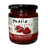 Hand-Picked and fire-roasted, these sweet red peppers come with a bit of bite – the signature of a true Piquillo pepper from the region of Navarra Fantastic sautéed with garlic, stuffed with Bonito tuna or crabmeat, or eaten right out of the jar! D.O...