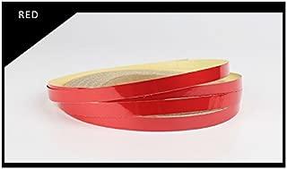 FOLCONROAD Reflective Striping Tape Wheel Rim Stripe for Car Body Motorcycle Wheel Hub Rim Warning Safety -Red[US Warehouse]