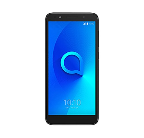 Alcatel 1 5033J Unlocked Smartphone Dual Sim 5' 18:9 Display, Android Oreo (Go Edition), 8MP Rear Camera, 4G LTE - Works Worldwide & in The U.S GSM Carriers -Black
