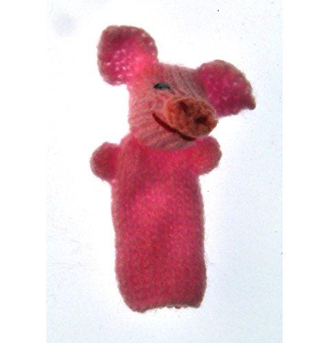 Titicaca Marionnette à Doigt tricoté: porcelet : fabriqués à la Main au Pérou
