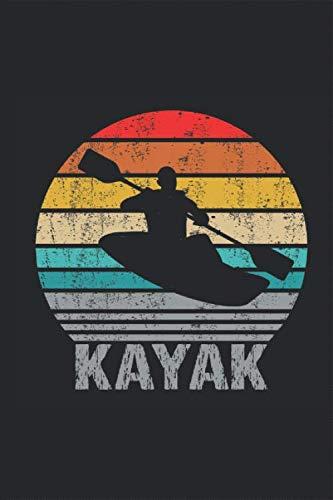 Kayak Retro Silhouette - Kajak: Kajakfahrer Kanusport Paddelboot Einer-Kajak Notizbuch Planer Kalender Taschenbuch Terminkalender Wochenplaner, ... für DIN A 5 Taschenkalender 120 Seiten
