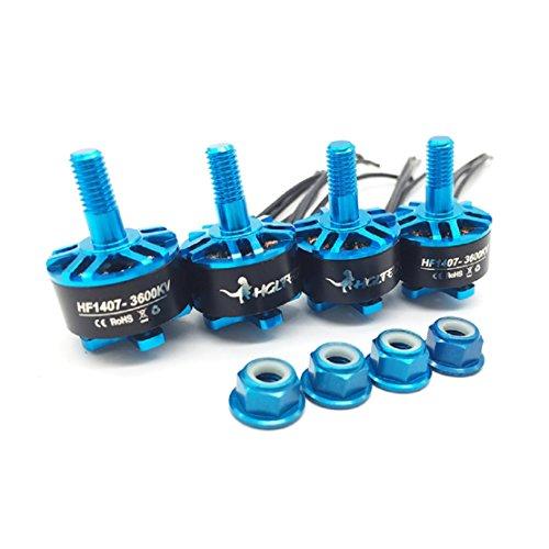 HGLRC 4PCS 1407 3600KV Brushless Motor Support 3S 4S Battery DIY for FPV Racing Drone Quadcopter Motor