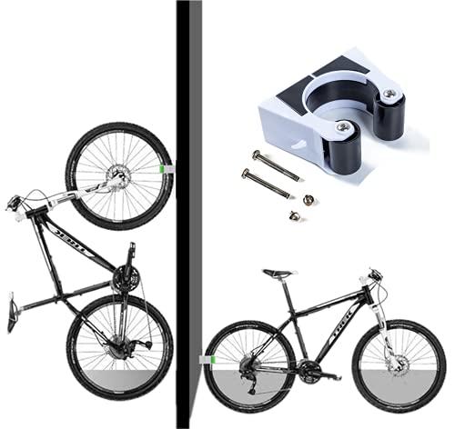 Portabici da parcheggio Clip per fibbia Appendiabiti da parete Mountain bike Portabici verticale per bici da strada Portabici da Supporto per gancio con fibbia da garage all'aperto (Mountain bike)